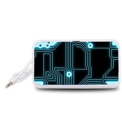 A Completely Seamless Background Design Circuitry Portable Speaker (White)