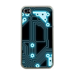 A Completely Seamless Background Design Circuitry Apple iPhone 4 Case (Clear)