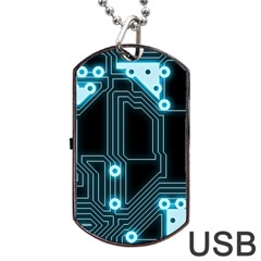 A Completely Seamless Background Design Circuitry Dog Tag Usb Flash (one Side)