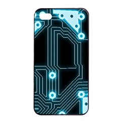 A Completely Seamless Background Design Circuitry Apple Iphone 4/4s Seamless Case (black)