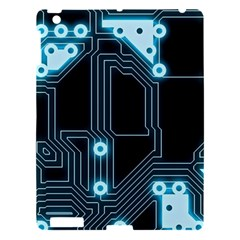 A Completely Seamless Background Design Circuitry Apple iPad 3/4 Hardshell Case