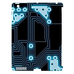 A Completely Seamless Background Design Circuitry Apple Ipad 3/4 Hardshell Case (compatible With Smart Cover)