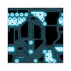 A Completely Seamless Background Design Circuitry Acrylic Tangram Puzzle (6  x 6 )