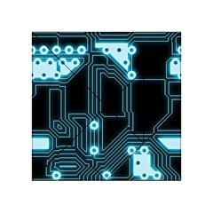 A Completely Seamless Background Design Circuitry Acrylic Tangram Puzzle (4  X 4 )