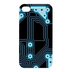 A Completely Seamless Background Design Circuitry Apple Iphone 4/4s Premium Hardshell Case