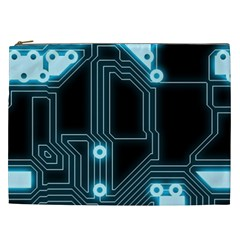 A Completely Seamless Background Design Circuitry Cosmetic Bag (xxl)