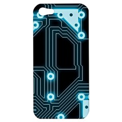 A Completely Seamless Background Design Circuitry Apple iPhone 5 Hardshell Case