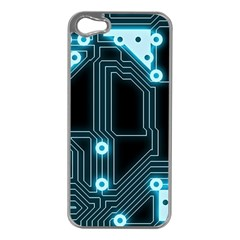 A Completely Seamless Background Design Circuitry Apple Iphone 5 Case (silver)