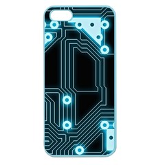 A Completely Seamless Background Design Circuitry Apple Seamless Iphone 5 Case (color)