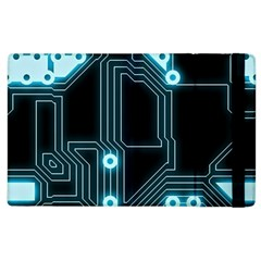 A Completely Seamless Background Design Circuitry Apple Ipad 3/4 Flip Case
