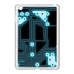 A Completely Seamless Background Design Circuitry Apple iPad Mini Case (White)