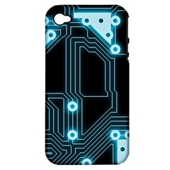 A Completely Seamless Background Design Circuitry Apple Iphone 4/4s Hardshell Case (pc+silicone)