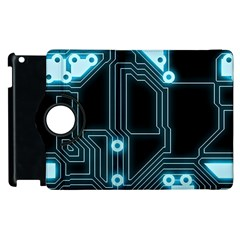 A Completely Seamless Background Design Circuitry Apple Ipad 3/4 Flip 360 Case