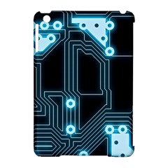 A Completely Seamless Background Design Circuitry Apple Ipad Mini Hardshell Case (compatible With Smart Cover)