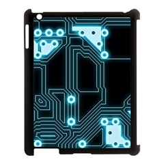 A Completely Seamless Background Design Circuitry Apple Ipad 3/4 Case (black)