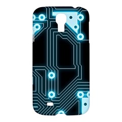 A Completely Seamless Background Design Circuitry Samsung Galaxy S4 I9500/i9505 Hardshell Case