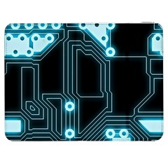 A Completely Seamless Background Design Circuitry Samsung Galaxy Tab 7  P1000 Flip Case