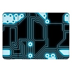 A Completely Seamless Background Design Circuitry Samsung Galaxy Tab 8.9  P7300 Flip Case