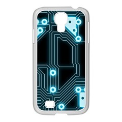 A Completely Seamless Background Design Circuitry Samsung Galaxy S4 I9500/ I9505 Case (white)