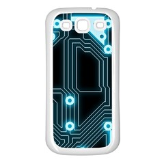 A Completely Seamless Background Design Circuitry Samsung Galaxy S3 Back Case (white)