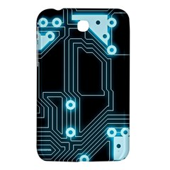 A Completely Seamless Background Design Circuitry Samsung Galaxy Tab 3 (7 ) P3200 Hardshell Case