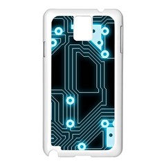 A Completely Seamless Background Design Circuitry Samsung Galaxy Note 3 N9005 Case (white)
