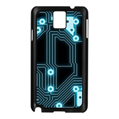 A Completely Seamless Background Design Circuitry Samsung Galaxy Note 3 N9005 Case (black)