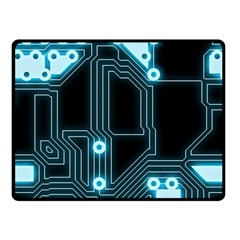 A Completely Seamless Background Design Circuitry Double Sided Fleece Blanket (small)