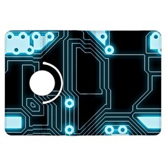 A Completely Seamless Background Design Circuitry Kindle Fire Hdx Flip 360 Case