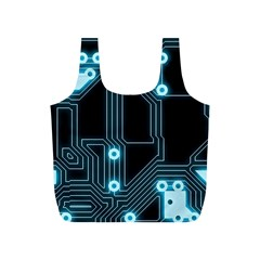A Completely Seamless Background Design Circuitry Full Print Recycle Bags (s)