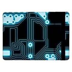 A Completely Seamless Background Design Circuitry Samsung Galaxy Tab Pro 12.2  Flip Case