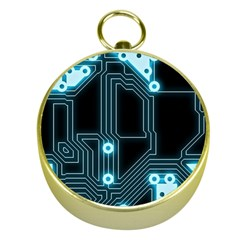 A Completely Seamless Background Design Circuitry Gold Compasses