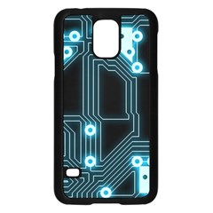 A Completely Seamless Background Design Circuitry Samsung Galaxy S5 Case (black)