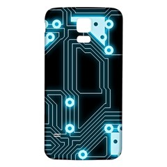 A Completely Seamless Background Design Circuitry Samsung Galaxy S5 Back Case (white)