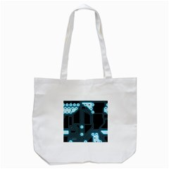 A Completely Seamless Background Design Circuitry Tote Bag (white)