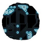 A Completely Seamless Background Design Circuitry Large 18  Premium Flano Round Cushions Back