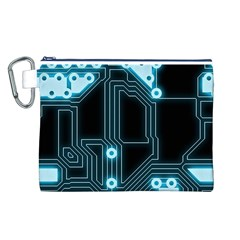A Completely Seamless Background Design Circuitry Canvas Cosmetic Bag (l)