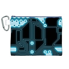 A Completely Seamless Background Design Circuitry Canvas Cosmetic Bag (XL)