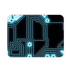 A Completely Seamless Background Design Circuitry Double Sided Flano Blanket (mini)