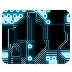 A Completely Seamless Background Design Circuitry Double Sided Flano Blanket (medium)
