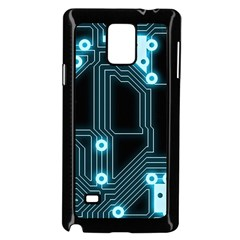 A Completely Seamless Background Design Circuitry Samsung Galaxy Note 4 Case (black)