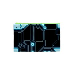 A Completely Seamless Background Design Circuitry Cosmetic Bag (xs)