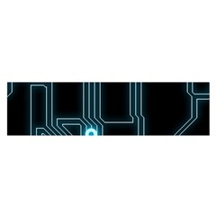 A Completely Seamless Background Design Circuitry Satin Scarf (oblong)