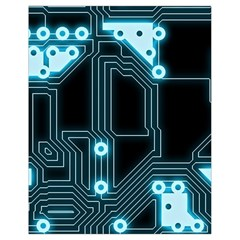A Completely Seamless Background Design Circuitry Drawstring Bag (Small)