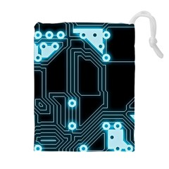 A Completely Seamless Background Design Circuitry Drawstring Pouches (extra Large)