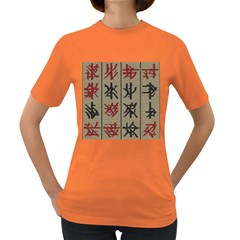 Ancient Chinese Secrets Characters Women s Dark T Shirt