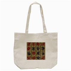 Ancient Chinese Secrets Characters Tote Bag (cream)