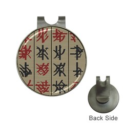 Ancient Chinese Secrets Characters Hat Clips With Golf Markers