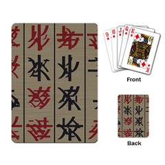 Ancient Chinese Secrets Characters Playing Card