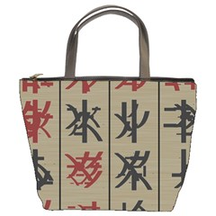 Ancient Chinese Secrets Characters Bucket Bags